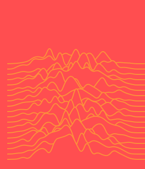 waves on a monochrome background